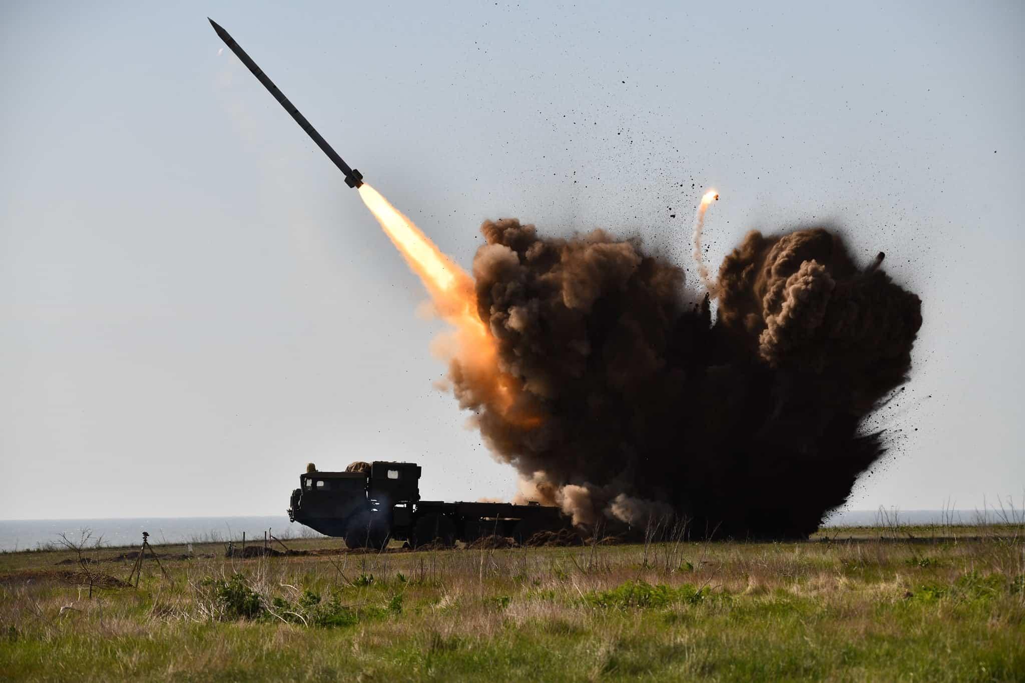 Стрільби «Вільха-М» на Державному випробувальному полігоні «Алібей» 25 квітня 2020 року