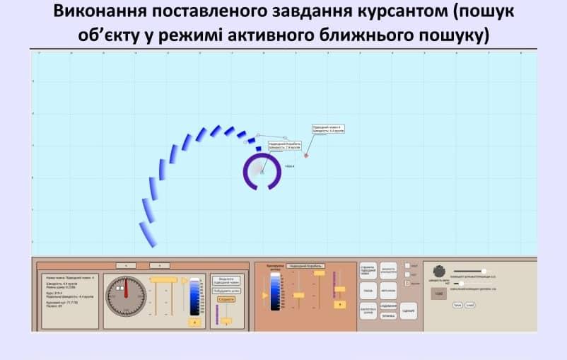 Виконання завдання для курсантів-операторів на тренажері гідроакустичних станцій 1