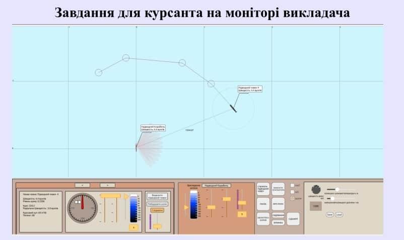 Завдання для курсантів-операторів на тренажері гідроакустичних станцій
