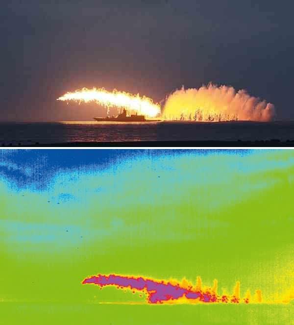 Зображення завад КТ-308 в видимому і інфрачервоному діапазоні.