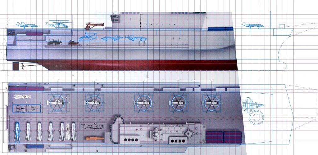 Можливий вигляд універсального десантного корабля проєкту 23900