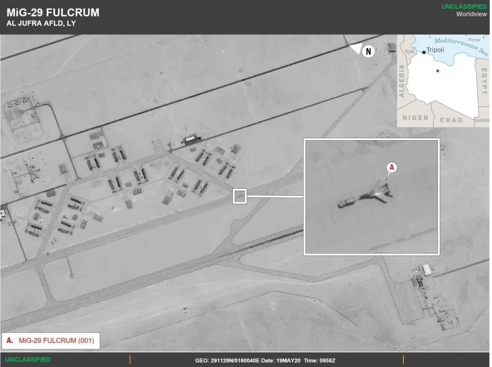 Фото російських літаків. Джерело: U.S. Africa Command