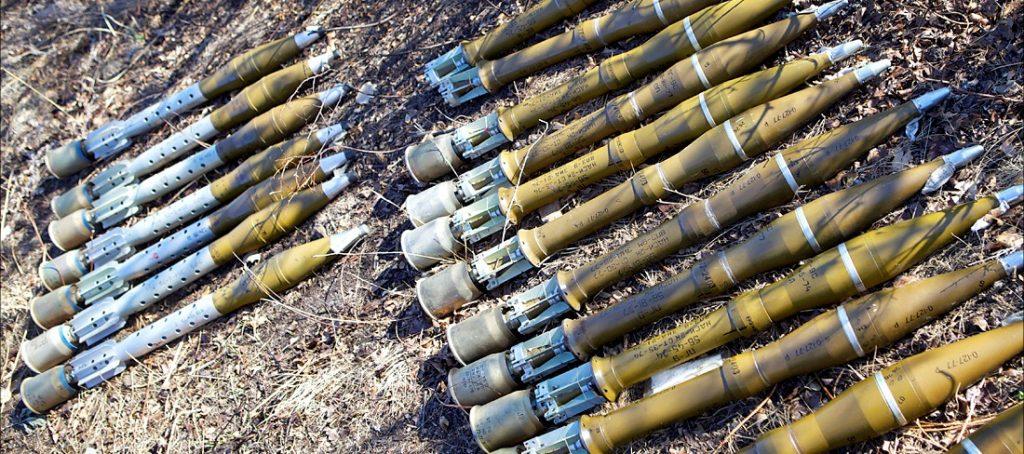 Боєприпаси до БМП-1. Фото: з війни на Донбасі
