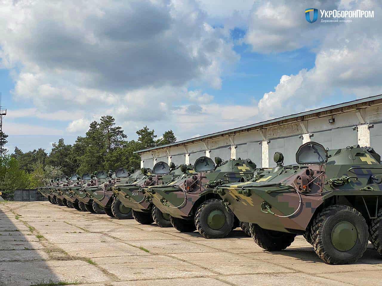 Бронетранспортери БТР-80 відремонтовані на КБТЗ