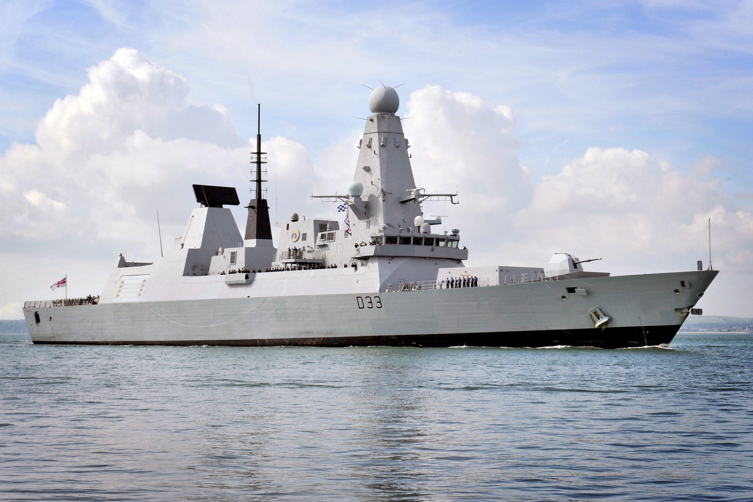 Есмінець HMS Dauntless (D33) у Портсмунті в серпні 2011-го року