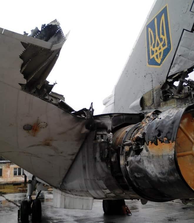 Пошкоджені елементи борту №11 встановлені на інший літак