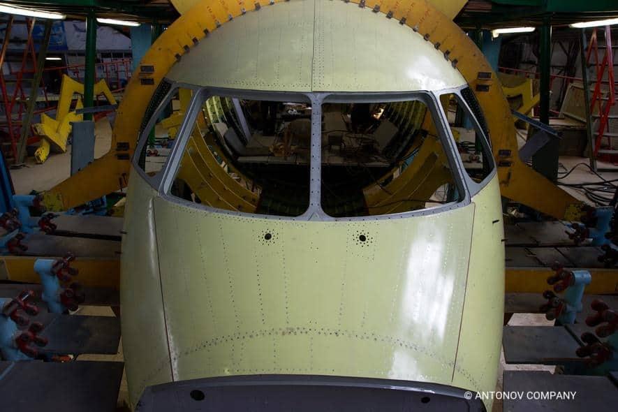 Процес збирання фюзеляжу Ан-178 для Перу