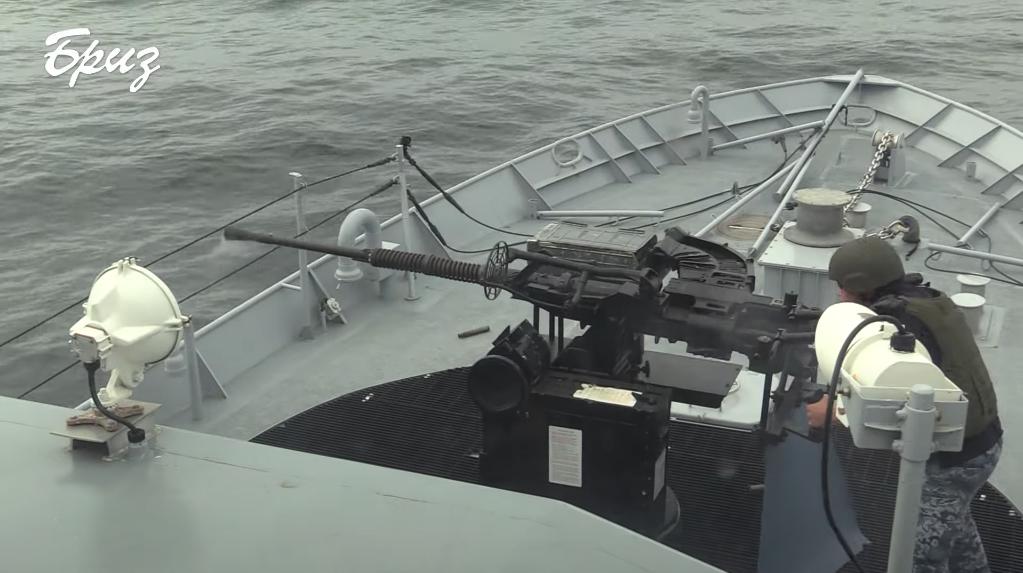 Автоматична корабельна артилерійська система 110-ПМ. Кадр з відео МО Бриз