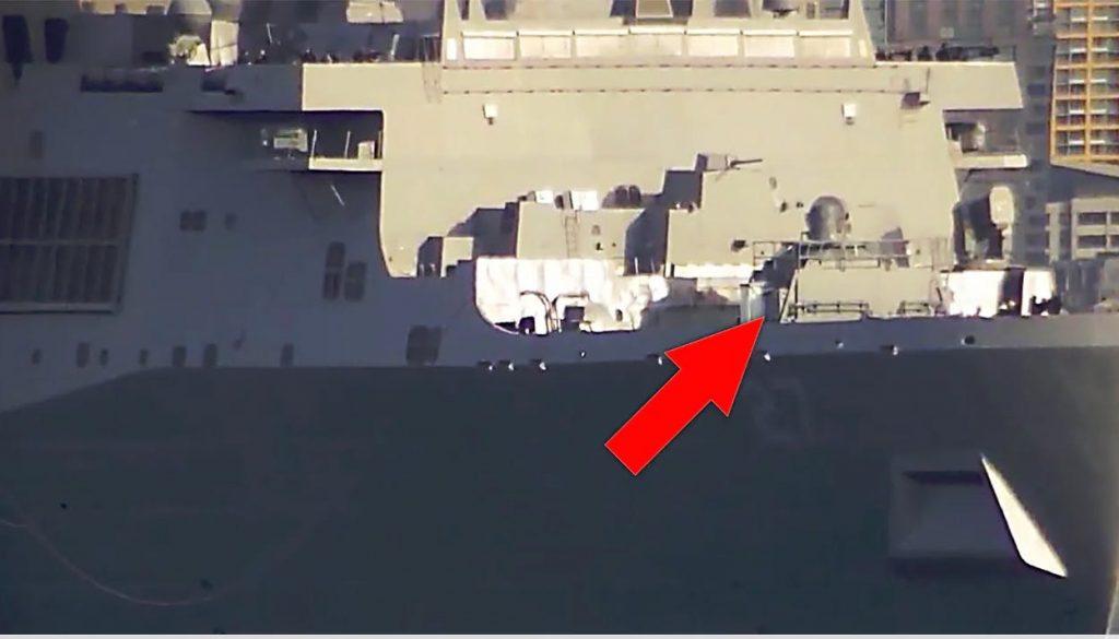Лазерна установка на борту USS Portland. Фото: thedrive.com