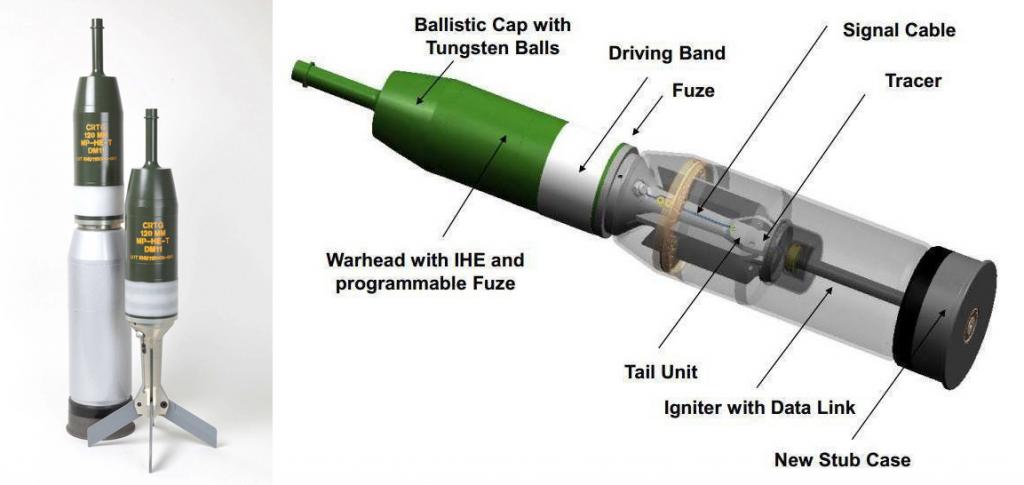 Снаряд DM11, розроблений компанією Rheinmetall