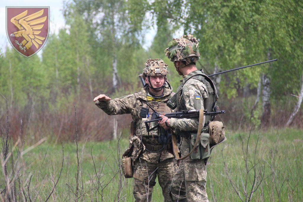 Десантники 95-ї бригади під час навчань. Фото: 95 ОДШБр