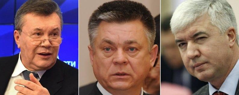 Янукович В.Ф, Лебедєв П.В та Саламатін Д.А