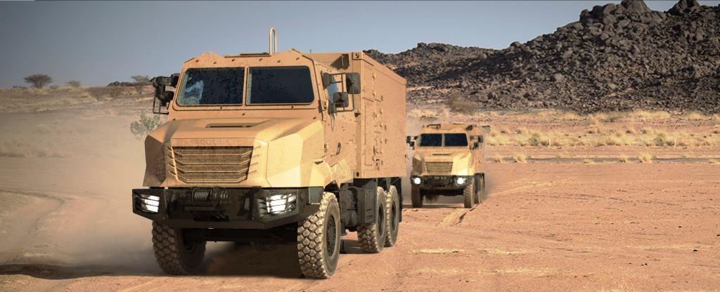 Зображення перспективних військових вантажних автомобілів Arquus ARMIS з колісною формулою 6x6