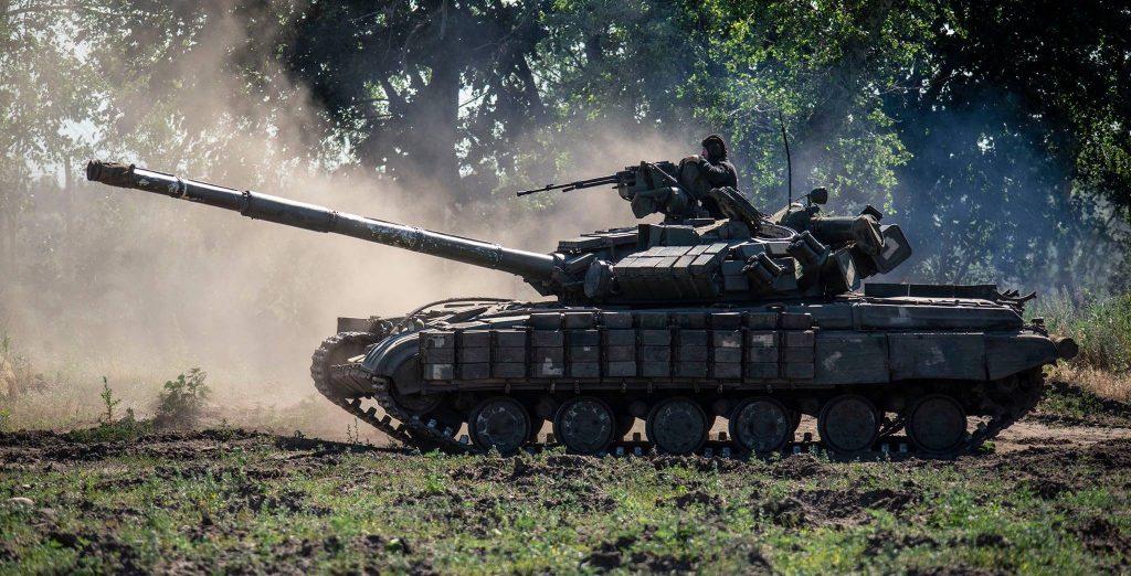 Танк Т-64ББ 93-ї бригади під час навчань. Фото: 93 ОМБр