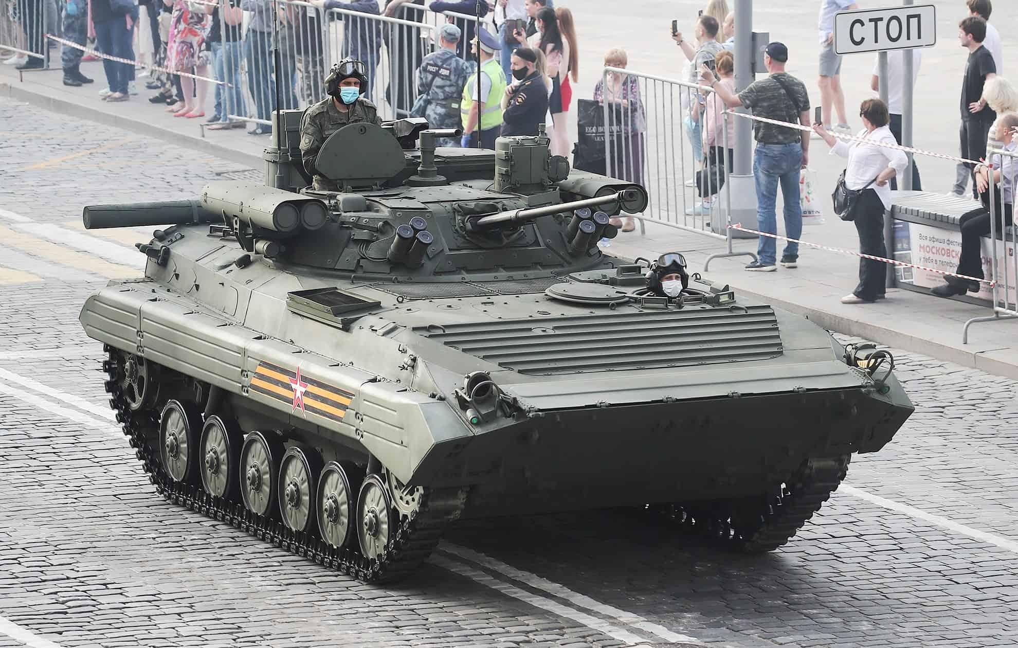 """БМП-2М """"Бережок (червень 2020). Фото: ЗМІ РФ"""
