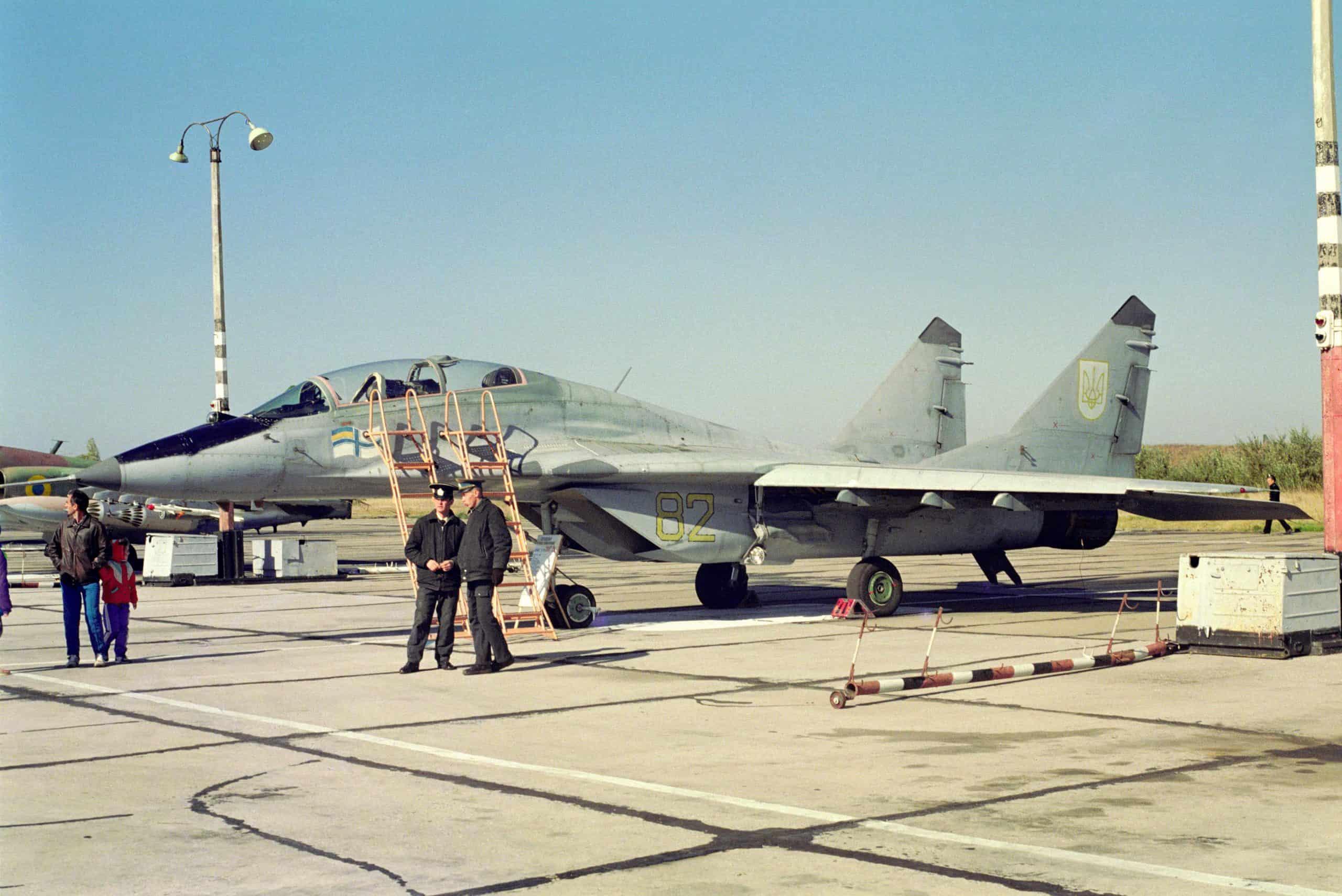 МіГ-29 УБ ВМС ЗС України з бортовим номером 82