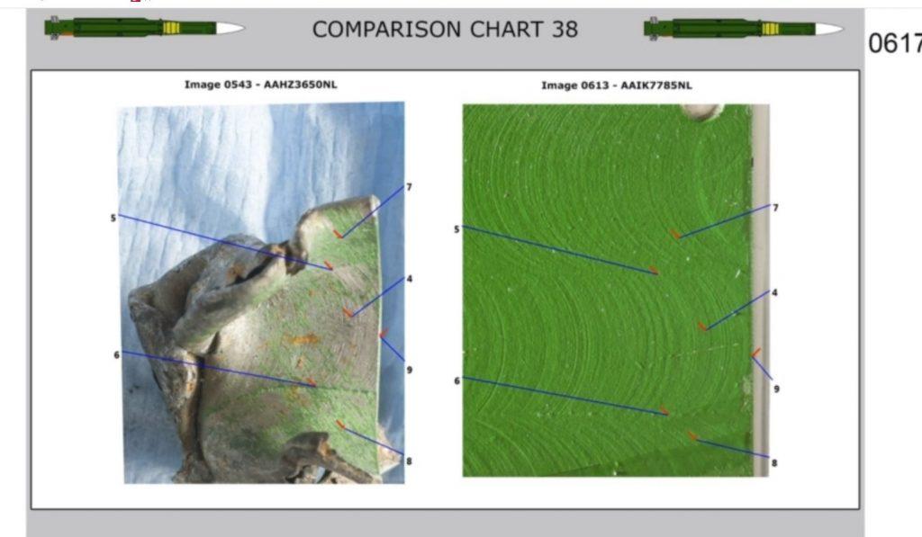Фото з матеріалу слідства по справі MH17