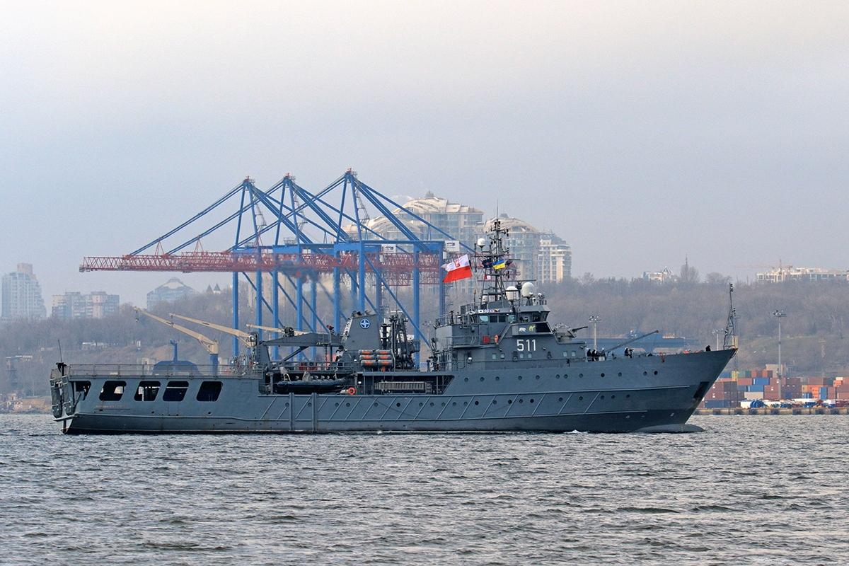 Корабель Kontradmirał Xawery Czernicki в Одесі