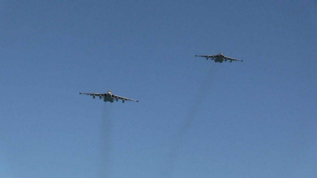 Авіація під час навчань «PASSEX». Фото: ВМС України