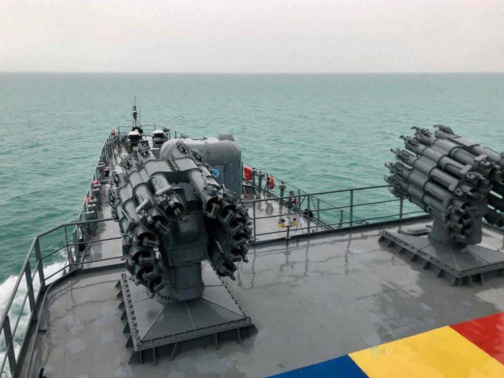 Реактивна установка RBU-6000. Корвет Румунії «Contraamiral Horia Macellariu» (F-265). Фото: ВМС України