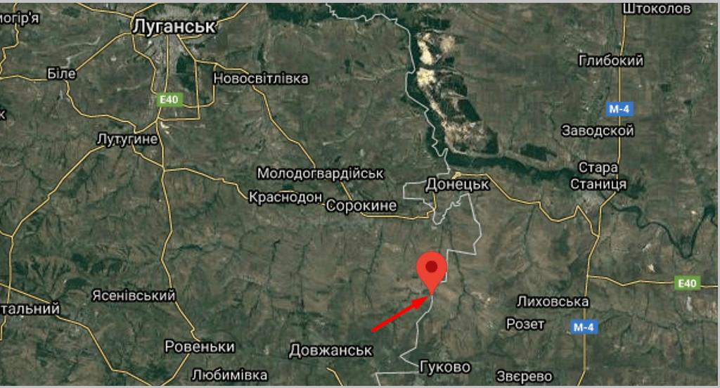 Місце вторгнення в Україну