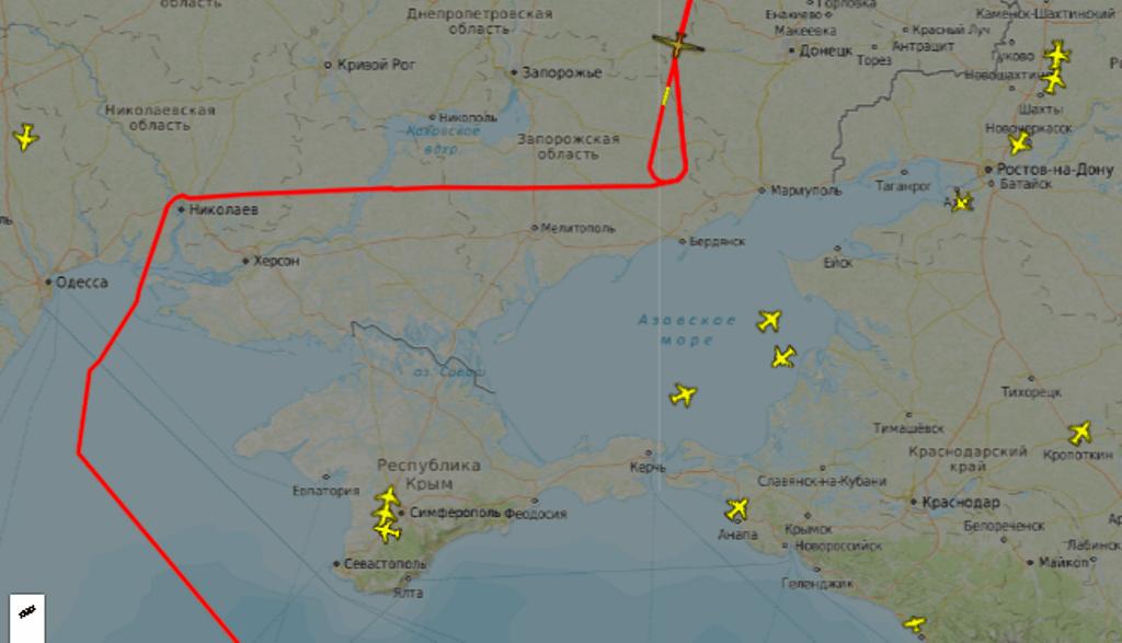Маршрут Global Hawk у повітряному просторі України [26.06.2020]