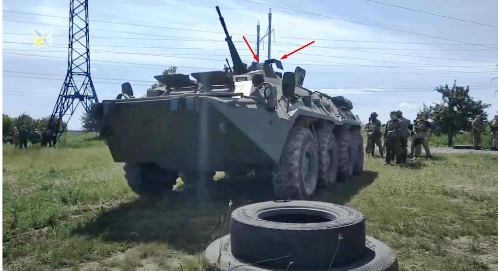 Російський приціл ТКН-4ГА-01 на БТР-80. Кадр з відео тренувань бойовиків на Донбасі.
