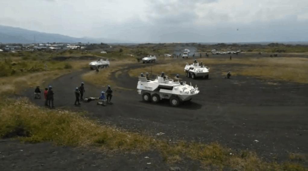 Спільні навчання миротворців ООН у ДР Конго. Червень 2020 рік. Фото: Кадр з відео навчань.