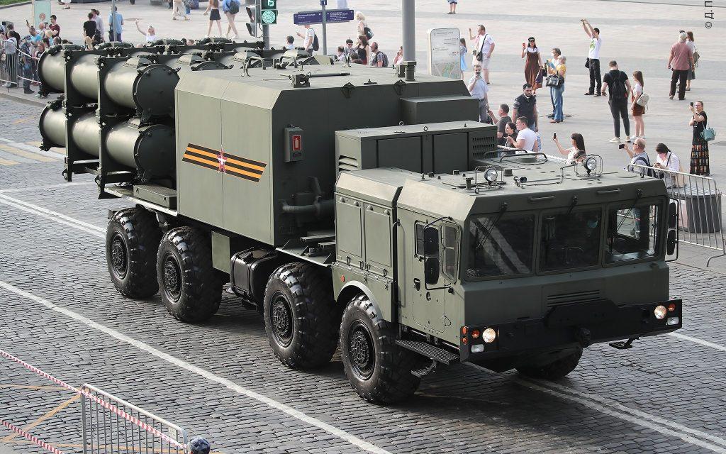 """Самохідна пускова установка 3К60 """"Бал (червень 2020). Фото: ЗМІ РФ"""