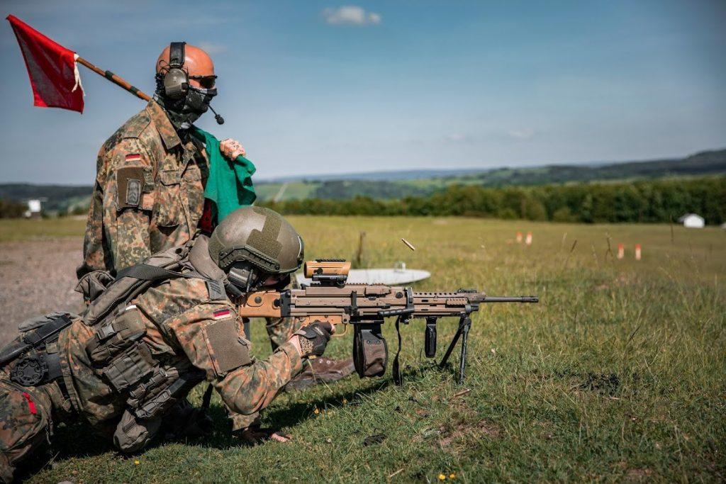 Випробування кулемете MG4 A3. Фото: Бундесвер