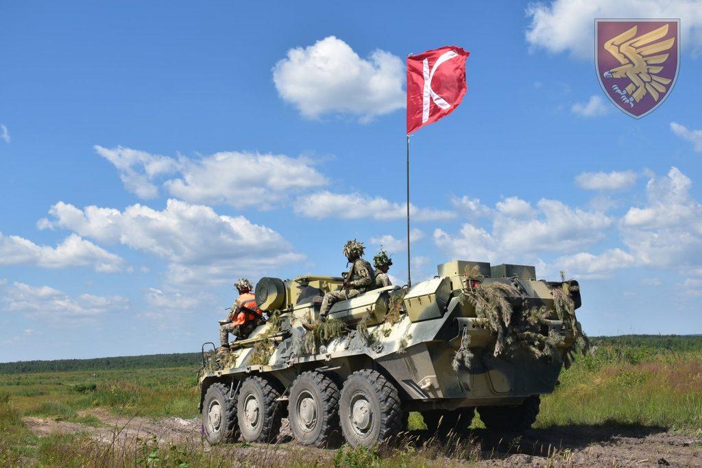 Навчання 95-ї бригади ДШВ. БТР-3. Фото: Міноборони