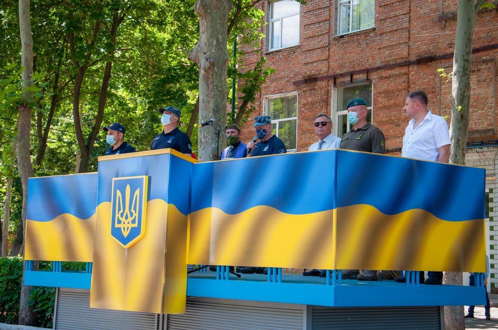 Церемонія відкриття школи морського піхотинця. Фото: ВМС України