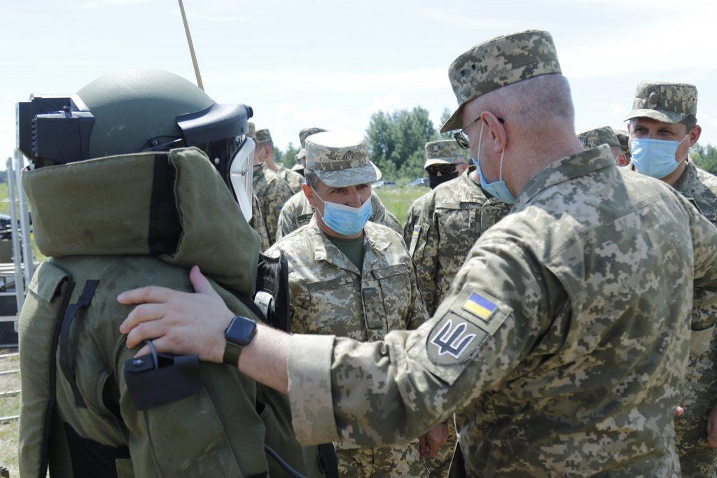 Руслан Хомчак під час навчань ЗСУ. Фото: Генштаб