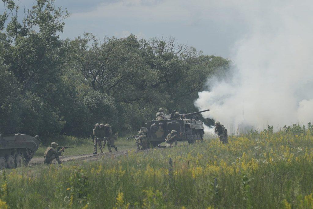 БМП-1 під час навчань ЗСУ. Фото: Генштаб
