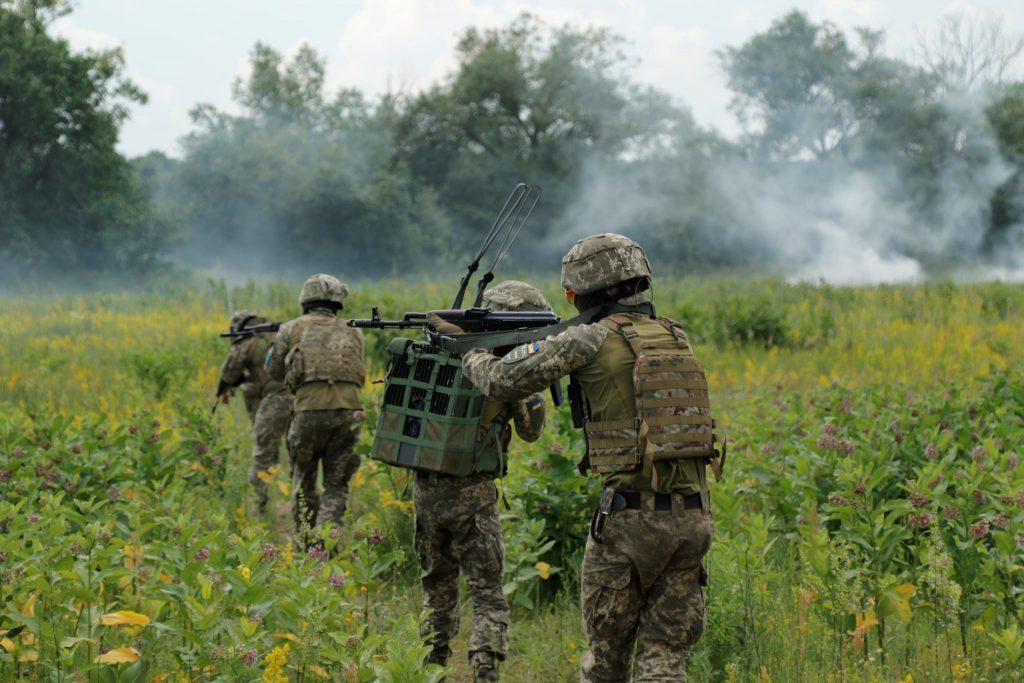 Військові під час навчань ЗСУ. Фото: Генштаб