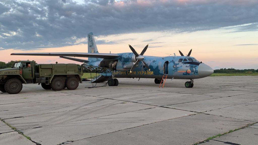 Ан-26 на авіабазі. Фото: ПС ЗСУ