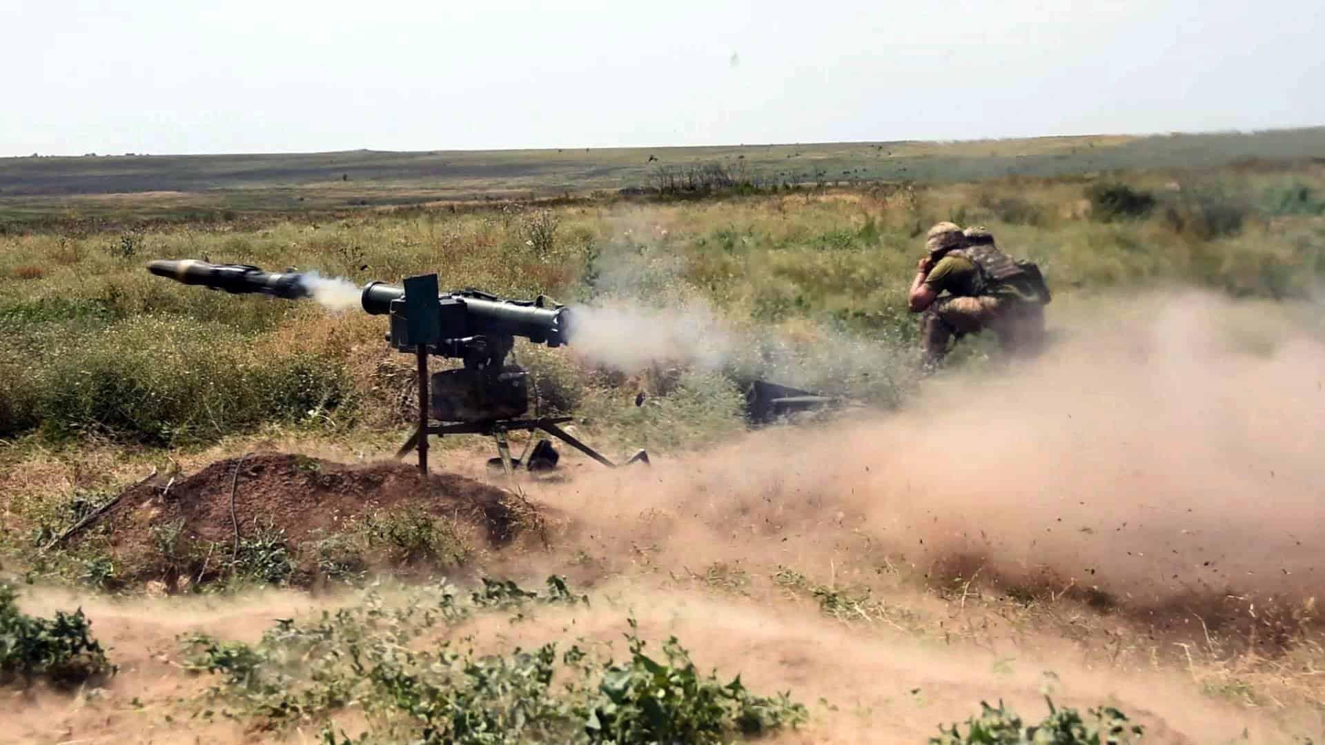 Постріл з «Стугна-П» під час змагань. Фото: АрміяInform