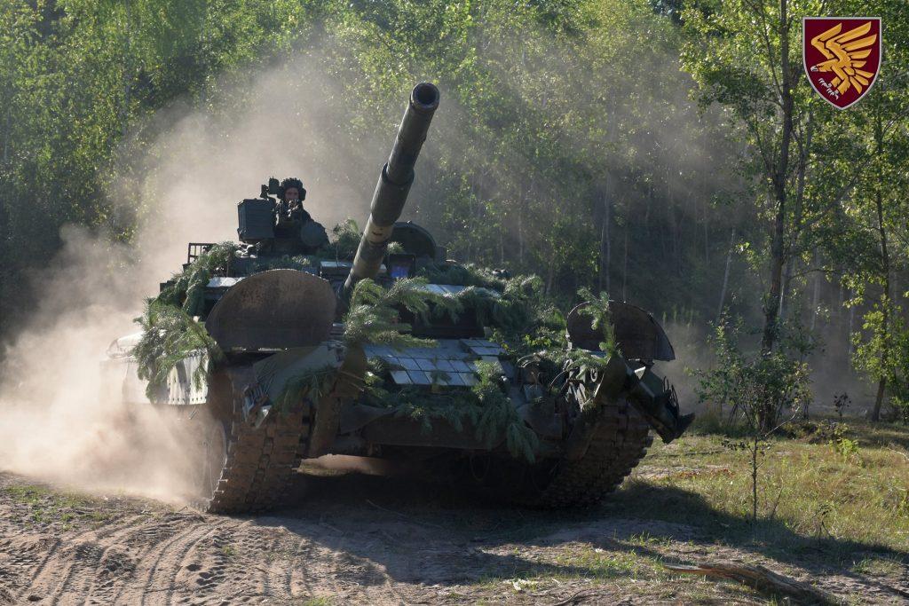 Танк Т-80БВ 95-ї бригади ДШВ. Липень 2020. Фото: ДШВ