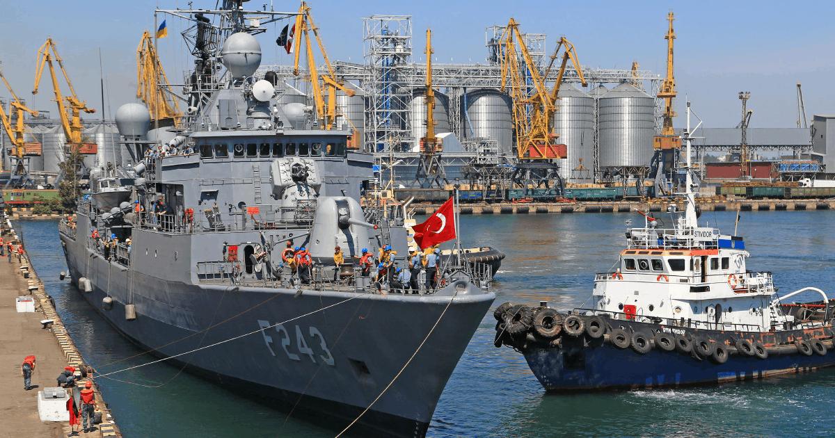 Кораблі навчань «Sea Breeze 2020» в порту Одеси. Липень 2020. Фото: Думская