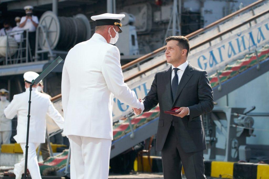 Церемонія з дня Військово-Морських сил України. Фото: Пресцентр Президента України