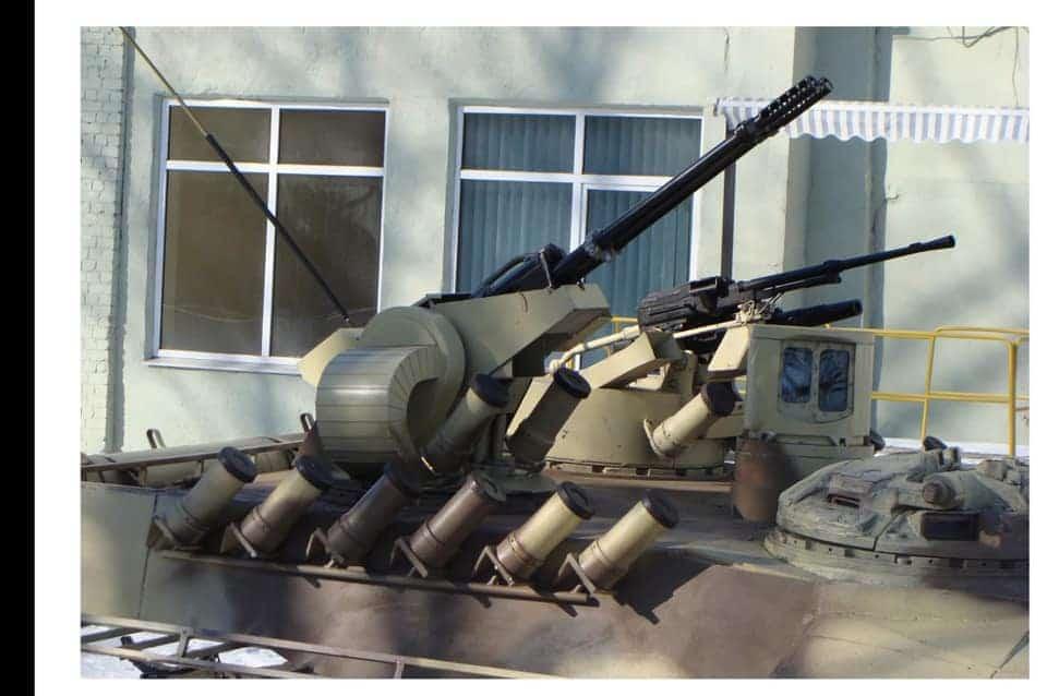 23-мм спарена артилерійська установка та бойовий модуль з ПКТ і АГС-17