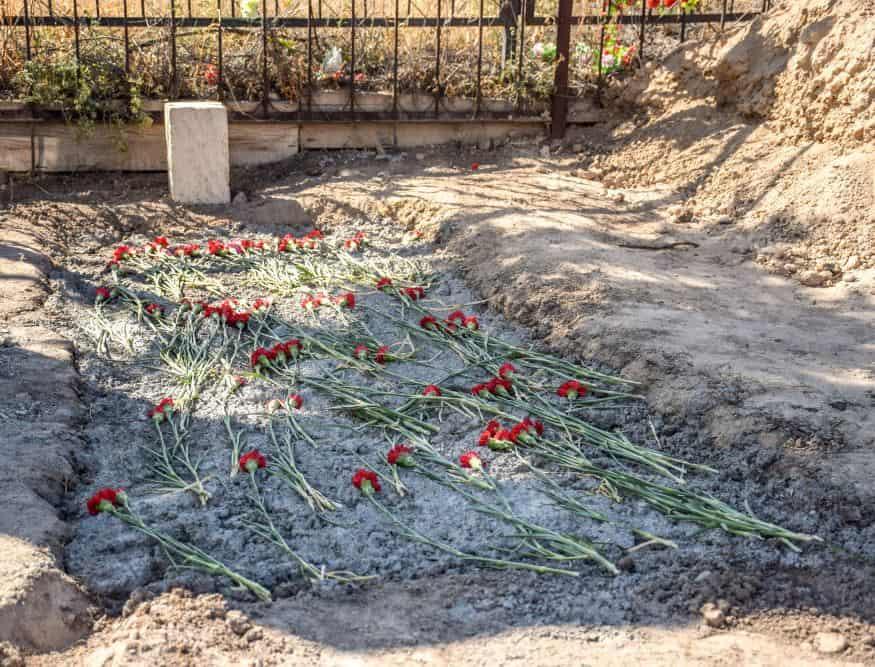 Місце поховання Азіза Азизова в ТовузЬком районі. Фото: ЗМІ Азербайджану