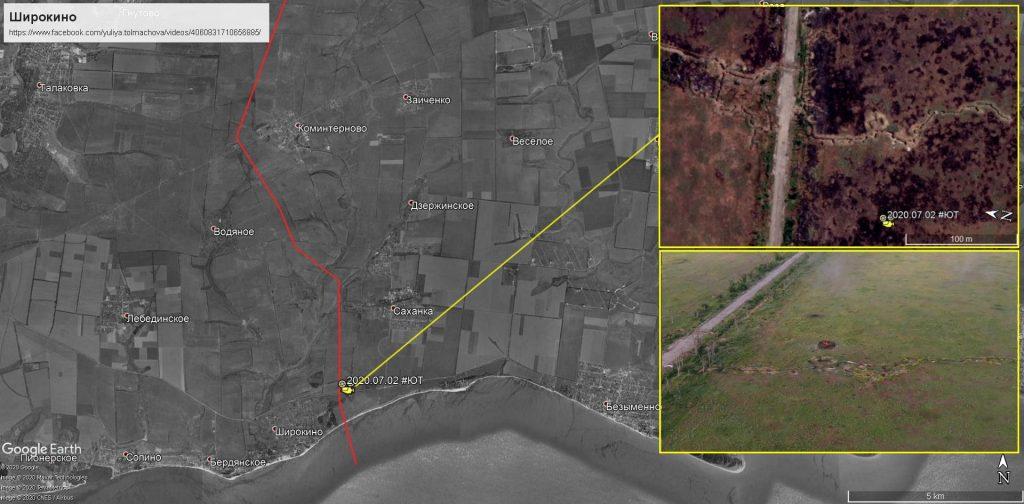 Позиція бойовиків на мапі. Мапа від блогера @rexiro3 (twitter)