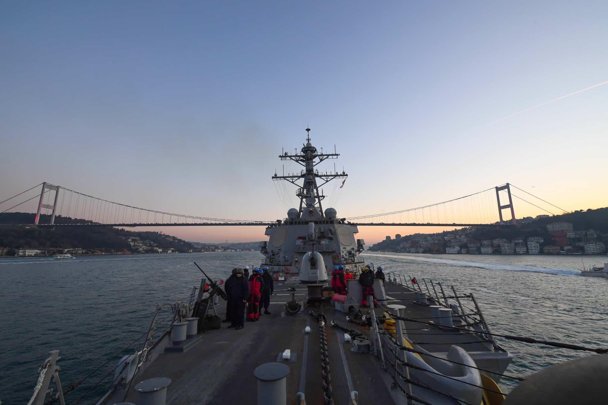 Есмінець ВМФ США «Porter» (DDG-78) прямує до Чорного моря. 19.07.2020. Фото: ВМФ США