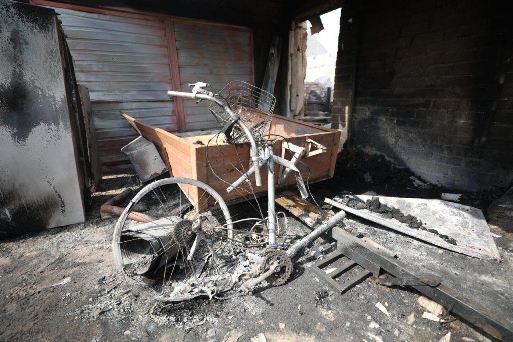 Наслідки пожежі на Луганщині