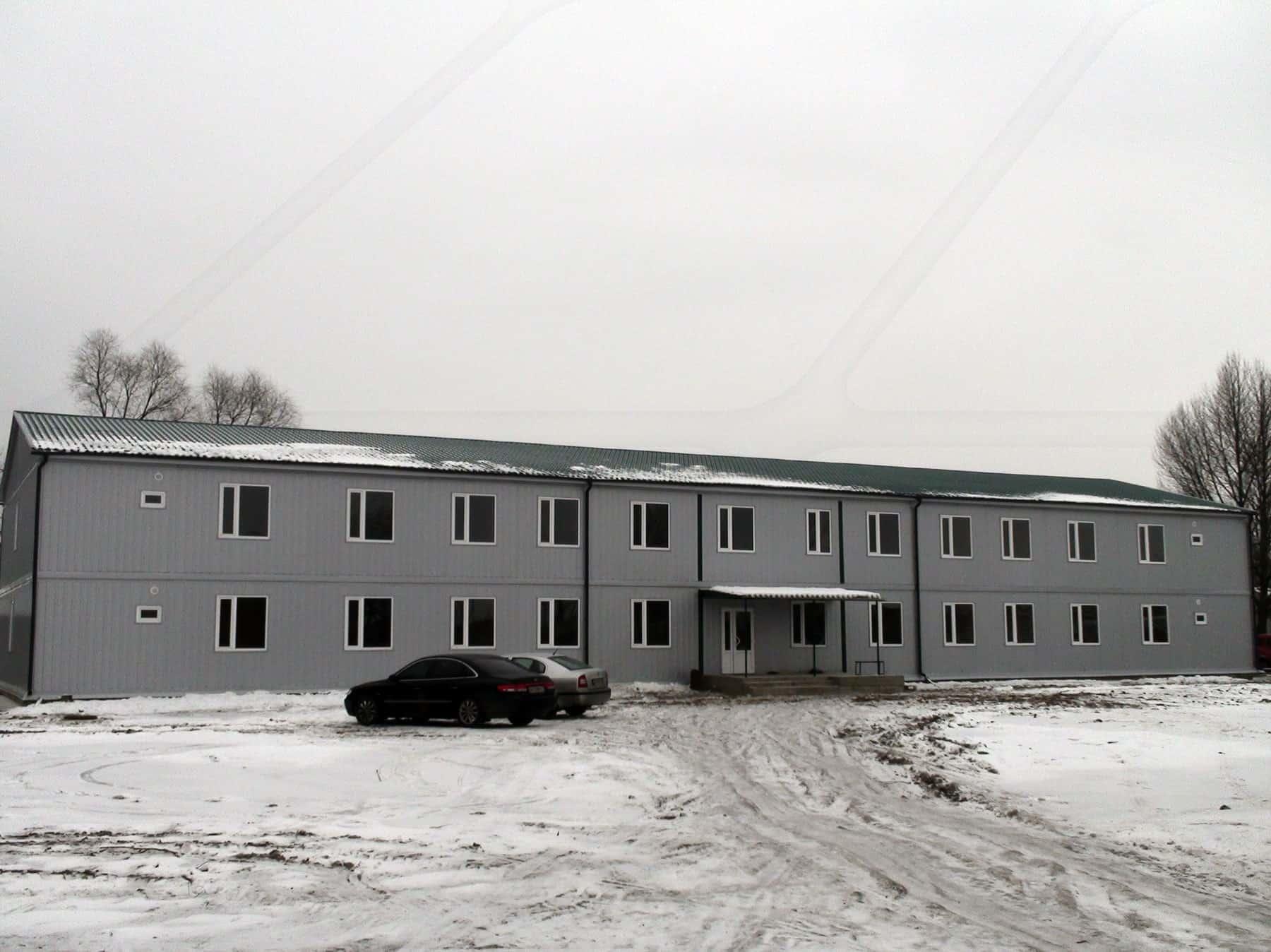 Один з варіантів модульно-збірної споруди