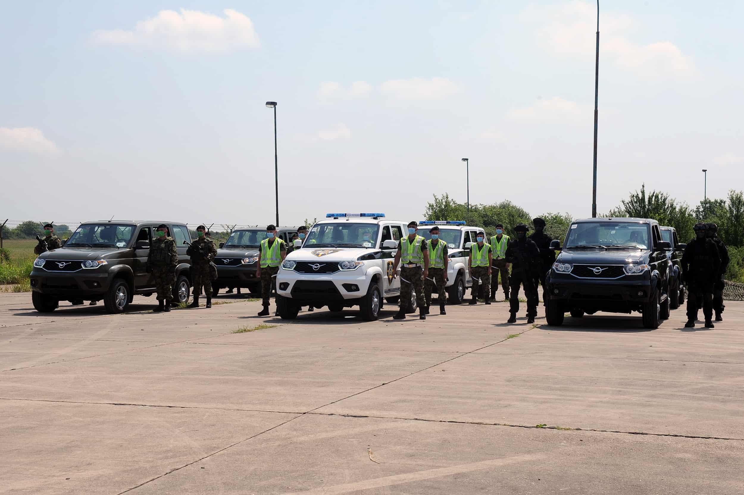 Позашляховики УАЗ «Патриот» сербської армії