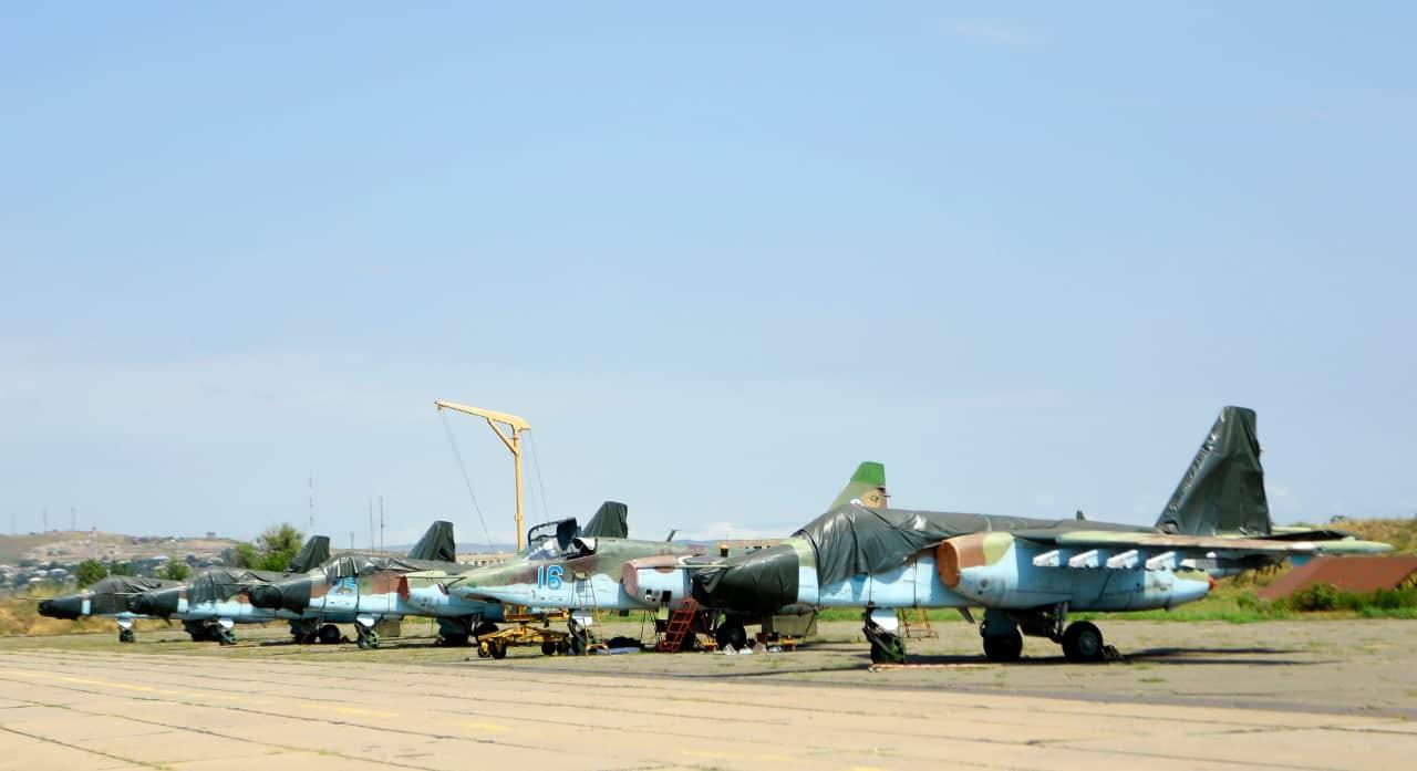 Штурмовики Су-25 на авіабазі в Грузії