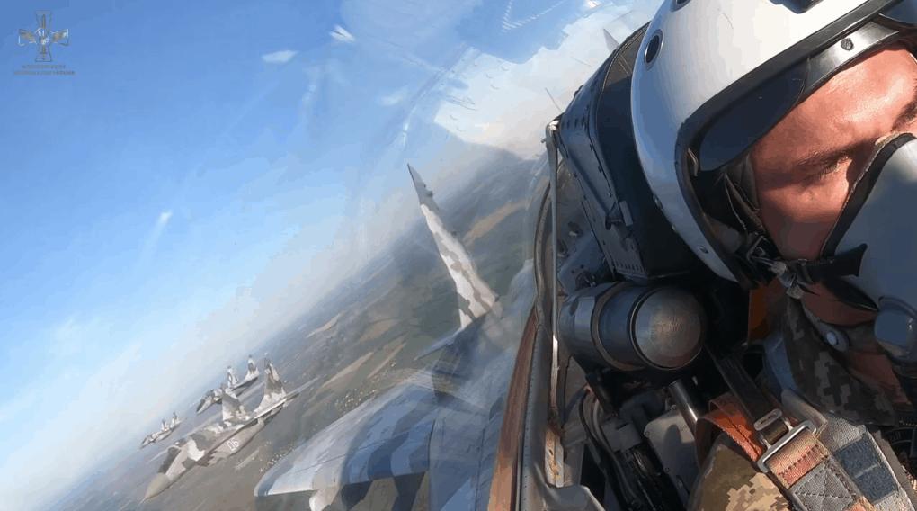 МіГ-29 під час навчань. Фото: ПС ЗСУ