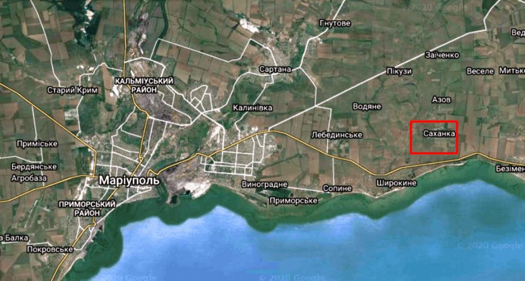 Місце обстрілу на мапі